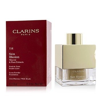 Clarins Skin Illusion Mineral & Plant Extracts Loose Powder Foundation (With Brush) (New Packaging) - # 114 Cappuccino