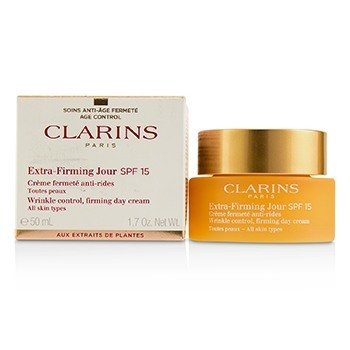 Clarins Extra-Firming Jour Wrinkle Control, Firming Day Cream SPF 15 - All Skin Types