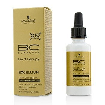 Schwarzkopf BC Excellium Q10+ Omega 3 Anti-Dry Serum (For Coarse Mature Hair)