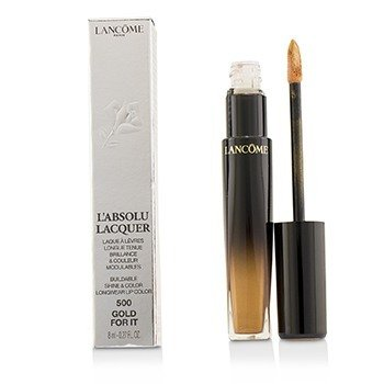 Lancome LAbsolu Lacquer Buildable Shine & Color Longwear Lip Color - # 500 Gold For It