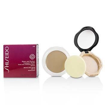 Shiseido Sheer & Perfect Compact Foundation SPF 21 (Case + Refill) - # I00 Very Light Ivory