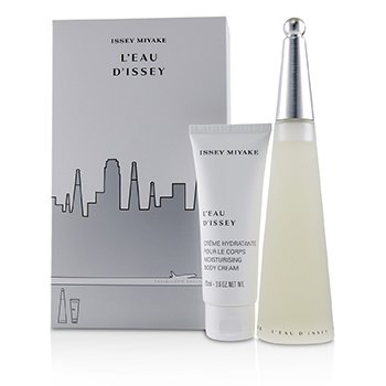 Issey Miyake LEau DIssey Coffret : Eau De Toilette Spray 100ml + Moisturising Body Cream 75ml