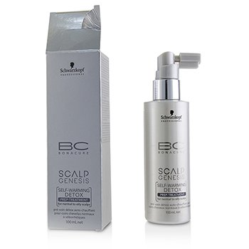 Schwarzkopf BC Scalp Genesis Self-Warming Detox Prep-Treatment - For Normal to Oily Scalps (Box Slightly Damaged)