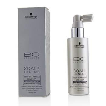 Schwarzkopf BC Scalp Genesis Self-Warming Detox Prep-Treatment (For Normal to Oily Scalps)