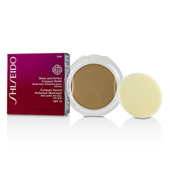 Shiseido Sheer & Perfect Compact Foundation SPF15 (Refill) - #O40 Natural Fair Orche