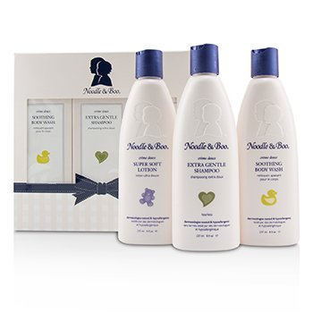 Noodle & Boo Starter Gift Set: Extra Gentle Shampoo 237ml + Soothing Body Wash 237ml + Super Soft Lotion 237ml