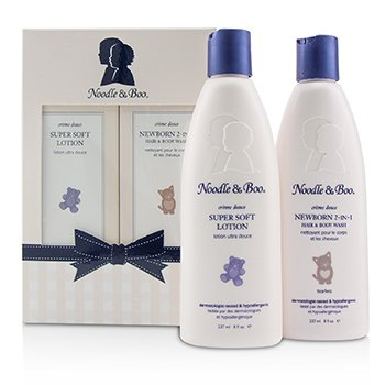 Noodle & Boo Newborn Gift Set: Newborn 2-in-1 Hair & Body Wash 237ml + Super Soft Lotion - For Face & Body 237ml