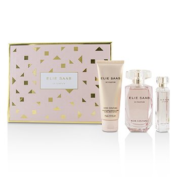 Elie Saab Le Parfum Rose Couture Coffret: Eau De Toilette Spray 90ml + Floral Body Lotion 75ml + Eau De Toilette Spray 10ml