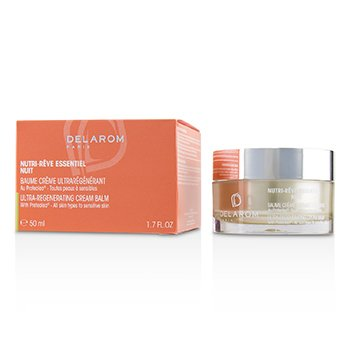 DELAROM Nutri-Reve Essentiel Nuit Ultra-Regenerating Cream Balm - For All Skin Types to Sensitive Skin