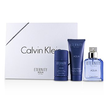 Calvin Klein Eternity Aqua Coffret: Eau De Toilette Spray 100ml + After Shave Balm 100ml + Deodorant Stick 75g