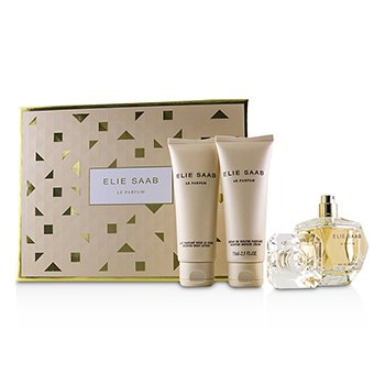 Elie Saab Le Parfum Coffret: Eau De Parfum Spray 50ml + Scented Body Lotion 75ml + Scented Shower Cream 75ml