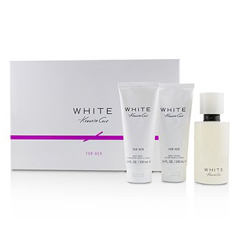 Kenneth Cole White Coffret: Eau De Parfum Spray 100ml + Body Lotion 100ml + Bath & Shower Gel 100ml