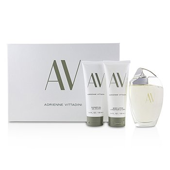 Adrienne Vittadini AV Coffret:Eau De Parfum Spray 90ml + Body Lotion 100ml + Shower Gel100 ml