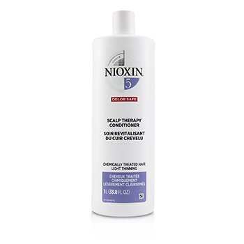 Nioxin Density System 5 Scalp Therapy Conditioner (Chemically Treated Hair, Light Thinning, Color Safe)