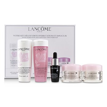 Lancome Your Hydration & Softness Discovery Kit: Confort Galatee+Confort Tonique+Genifique Concentrate+Hydra Zen Cream+Hydra Zen Mask