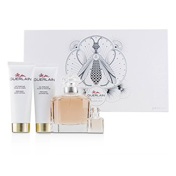 Guerlain Mon Guerlain Coffret: Eau De Toilette Spray 100ml + Perfumed Body Lotion 75ml + Perfumed Shower Gel 75ml + Eau De Toilette 5ml