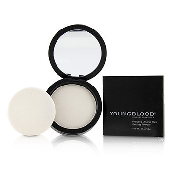 Youngblood Pressed Mineral Rice Powder - Light (Box Slightly Damaged)