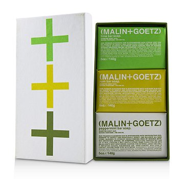 MALIN+GOETZ Mojito Soap Set: Lime + Rum + Peppermint Bar Soap