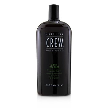 American Crew Men 3-IN-1 Tea Tree Shampoo, Conditioner and Body Wash