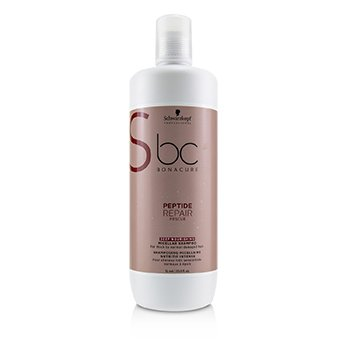 Schwarzkopf BC Bonacure Peptide Repair Rescue Deep Nourishing Micellar Shampoo (For Thick to Normal Damaged Hair)