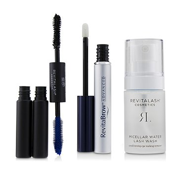 RevitaLash Eye Perfecting Gift Collection : (1x Eyebrow Conditioner, 1x Conditioning Eye Makeup Remover, 1x Volumizing Mascara Black)
