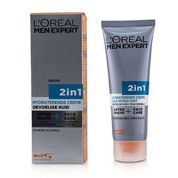 LOreal Men Expert Face Creme 2-in-1 After Shave + Face Care
