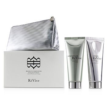ReVive Perfect Companions Purifying Travel Collection: Purifying Clay Mask 75g + Micro-Resurfacing Treatment 75g