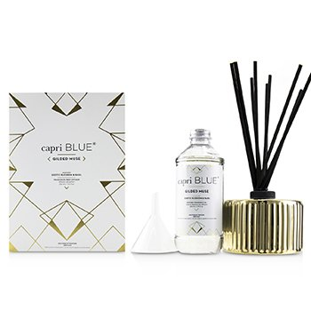 Capri Blue Gilded Muse Reed Diffuser - Exotic Blossom & Basil