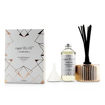 Capri Blue Gilded Muse Reed Diffuser - Pink Grapefruit & Prosecco