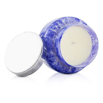 Capri Blue Watercolor Jar Candle - Blue Jean