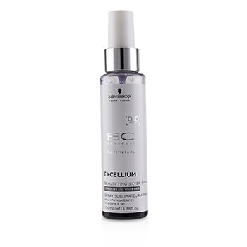 Schwarzkopf BC Excellium Q10+ Pearl Beautifying Silver Spray (For Silver and White Hair)
