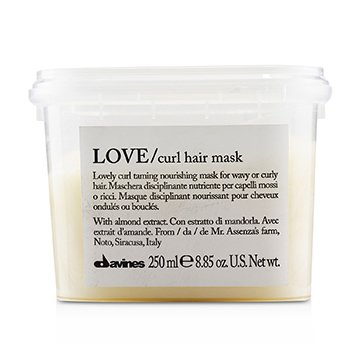 Davines Love Curl Hair Mask (Lovely Curl Taming Nourishing Mask For Wavy or Curly Hair)