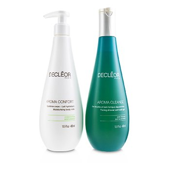 Decleor Caring Body Duo : Aroma Cleanse Toning Shower & Bath Gel 400ml + Aroma Confort Moisturising Body Milk 400m
