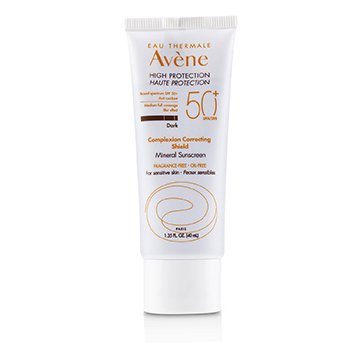 f2989ecce611 Avene Complexion Correcting Shield Mineral Sunscreen SPF 50 - #Dark (For  Sensitive Skin)