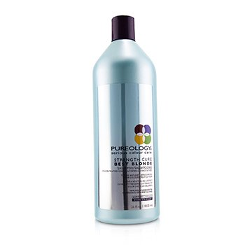 Pureology Strength Cure Best Blonde Shampoo (Toning and Anti-Brassiness For Colour-Treated Hair)