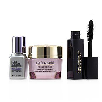 Estee Lauder Beautiful Eyes (Lift+Firm) Set: Resilience Lift Eye Creme 15ml + Perfectionist Pro 7ml + Pure Color Envy Lash #01 Black 2.8ml