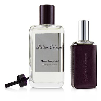 Atelier Cologne Musc Imperial Coffret: Cologne Absolue Spray 100ml + Cologne Absolue Refillable Spray 30ml + Leather Case