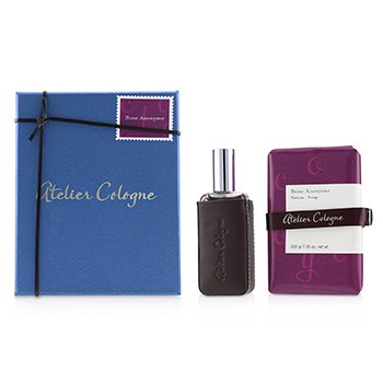 Atelier Cologne Rose Anonyme Coffret: Extrait Spray 100ml + Extrait Spray 30ml + Leather Case  (Box Slightly Damaged)