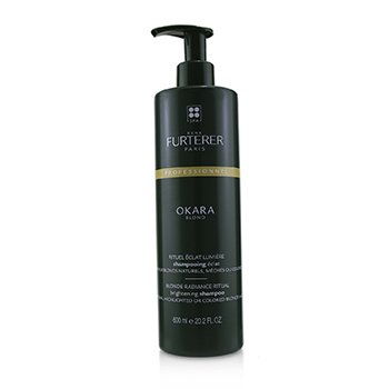 Okara Blond Blonde Radiance Ritual Brightening Shampoo - Natural, Highlighted or Colored Blonde Hair (Salon Product)