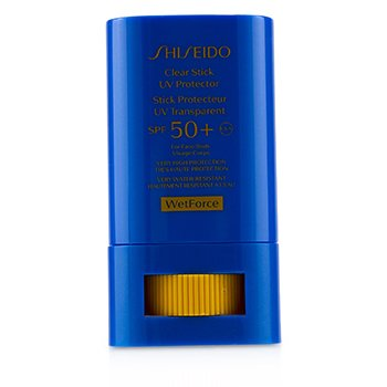 Shiseido Clear Stick UV Protector WetForce For Face & Body SPF 50+ (Very High Protection & Very Water-Resistant)