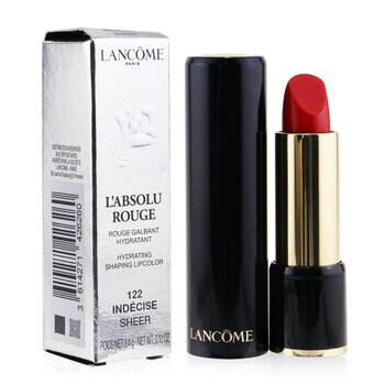 Lancome L Absolu Rouge Hydrating Shaping Lipcolor - # 122 Indecise (Sheer) (Box Slightly Damaged)