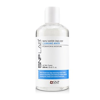 SNP Lab+ Triple Water One-Step Cleansing Water - Hydration & Moisture (For All Skin Types)