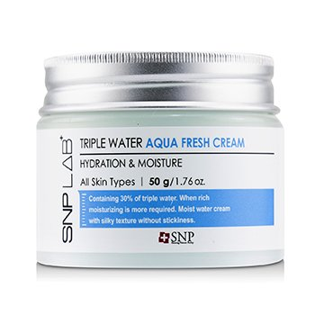 SNP Lab+ Triple Water Aqua Fresh Cream - Hydration & Moisture (For All Skin Types)