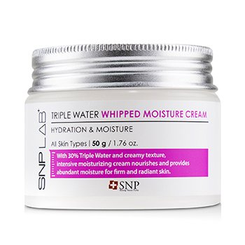 SNP Lab+ Triple Water Whipped Moisture Cream - Hydration & Moisture (For All Skin Types)