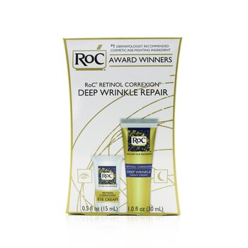 ROC Retinol Correxion Deep Wrinkle Repair Set: Eye Cream 15ml, Night Cream 30ml