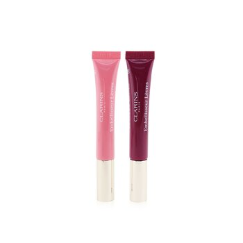 Clarins Natural Lip Perfector Duo (2x Lip Perfector) - 01 & 08
