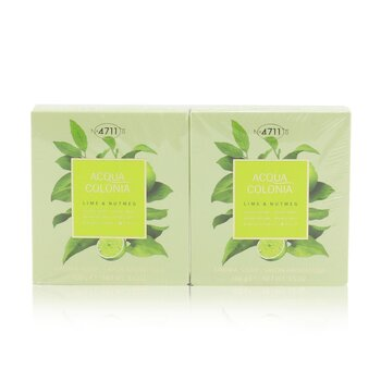 4711 Acqua Colonia Lime & Nutmeg Aroma Soap Duo