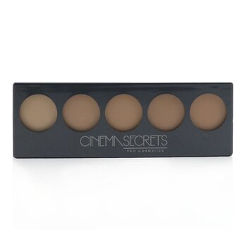 Cinema Secrets Ultimate Foundation 5 In 1 Pro Palette - # 500A Series (Light To Medium Pink Beige Undertones)