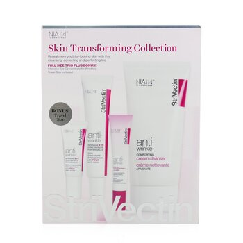 StriVectin Skin Transforming Collection (Full Size Trio):  Cleanser 150ml + Eye Concentrate (30ml+7ml) + Eyes Primer 10ml