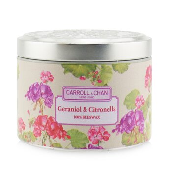 The Candle Company (Carroll & Chan) 100% Beeswax Tin Candle - Geraniol & Citronella
